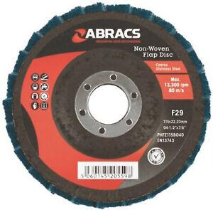 """ABRACS POLIRICO DISCS 115MM x 22MM 4 1/2"""" MAROON MEDIUM POLISHING FINISHING x 1"""