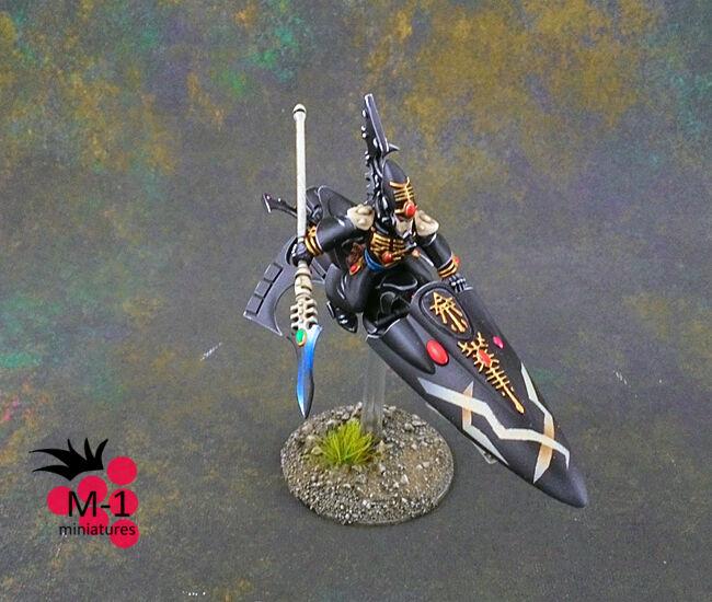 Warhammer 40k Eldar vidente en bici M-1 Pro-Pintado