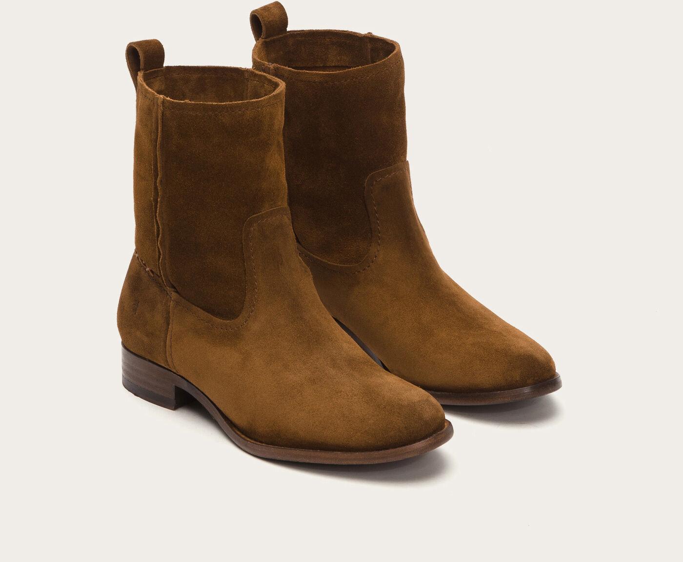 FRYE LADIES CARA SHORT BOOTS IN WOOD 78321