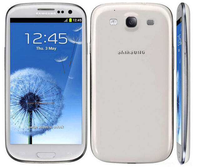 "New Samsung Galaxy S III GT-I9300 16GB 8MP 4.8"" Marble White Unlocked Smartphone"