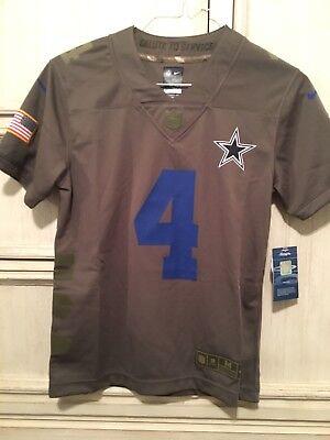 DAK Prescott Dallas Cowboys Salute to Service Nike Jersey Youth ... 50f896312