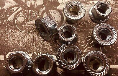 "Steel 5//16/"" X 3//8/"" Bicycle Hub Axle Nuts 24 TPI Schwinn Old School Silver"