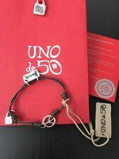 Uno De 50 Adjustable Peace Charm Bracelet - NWT - K-Pax