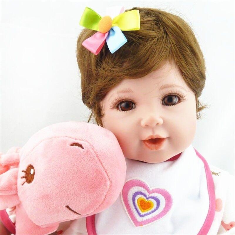 22  Hairband Reborn Bebé niñas realista de vinilo suave silicona Muñecas Juguetes de Peluche Regalo
