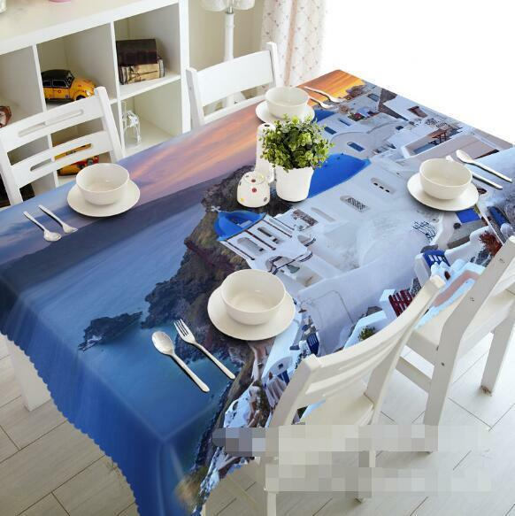 3D 3D 3D Seaside Church Tablecloth Table Cover Cloth Birthday Party Event AJ WALLPAPER 4988c3