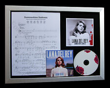 LANA DEL REY Summertime Sadness TOP QUALITY CD FRAMED DISPLAY+FAST GLOBAL SHIP