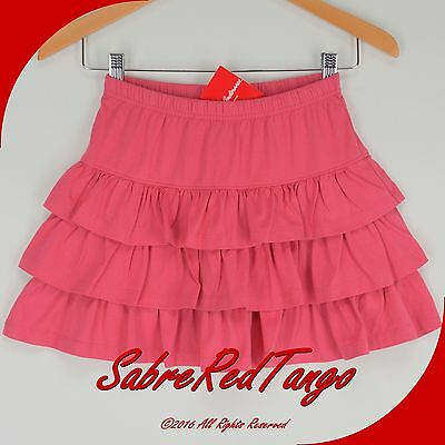NWT HANNA ANDERSSON THREE TIERS SCOOTER SKIRT SKORT MACARON PINK 120 7