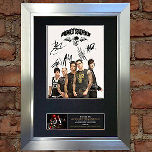 AVENGED-SEVENFOLD-Signed-Autograph-Mounted-Re-Print-A4-120