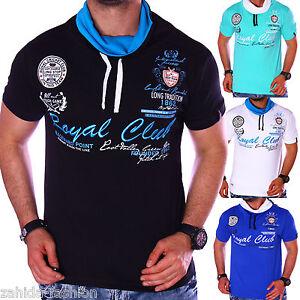 zahida-Camiseta-T-Shirt-Hombre-Top-Cuello-Informal-Largo-Polo-Club-Wear-NUEVO