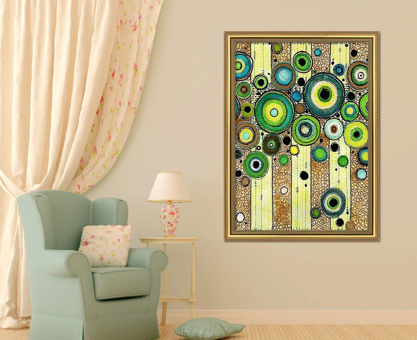 3D vert Circle 47 Framed Poster Home Decor Print Painting Art AJ AU