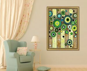 3d Green Circle 47 Framed Poster Home Decor Print Painting Art Aj Au Ebay