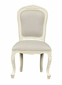 Stock photo  sc 1 st  eBay & Louis XV Medee Bedroom Chair - French White and Crushed Velvet ...
