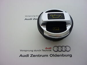 Original-Audi-R8-Oldeckel-420103485B-Deckel-schwarz-chrom