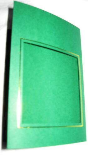 Cartes à fenêtre 3 fois A6 avec env et Or ou Argent frontières