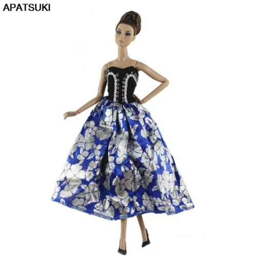"""Blue Off-Shoulder Fashion Party Dress for 11.5/"""" Dolls Clothes 1//6 Doll Outfits"""