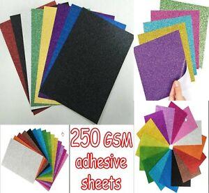 Craft A4-250GSM Dense Coloured Sparkle Glitter Card Range *OFFER* Premier Art