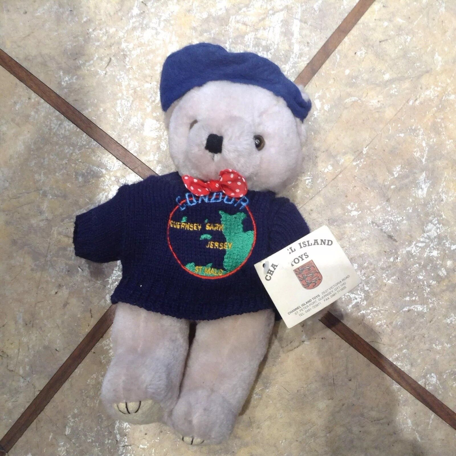 RARE Condor Teddy Bear In Jumper & Beret by by by Channel Island Toys & friends bundle cc9f1d