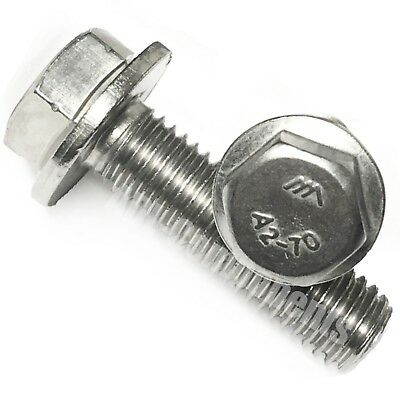 M8 Flange Bolts//Hexagon Head Screws Made From A2 Stainless Steel