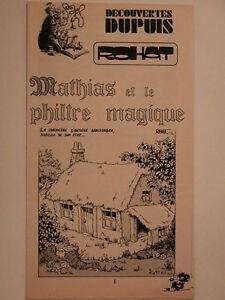 DECOUVERTE-DUPUIS-SPIROU-SUPPLEMENT-N-1932-MATHIAS-ET-LE-PHILTRE-MAGIQUE-ROHAT