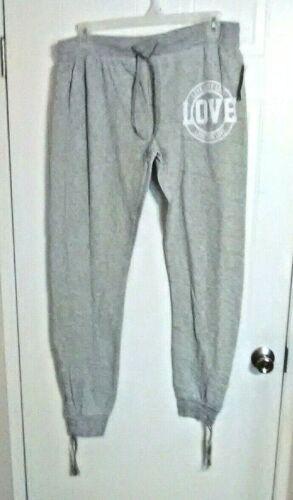 LOVE Bobbie Brooks Woman/'s Gray Jogger Pants Plus Size: 1X Elastic Waist