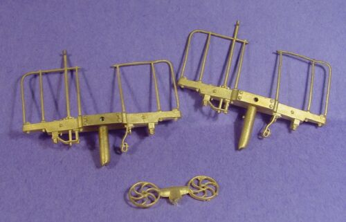 On3//On30 WISEMAN BACK SHOP BRASS PARTS BS-012 PASSENGER CAR END BEAMS W RAILINGS
