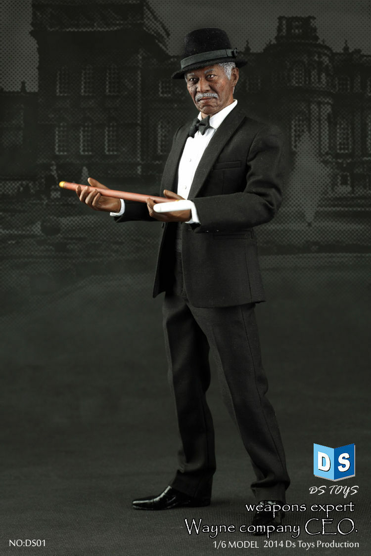 DS TOYS 1 6 Wayne Company CEO Weapons Expert Morgan Freeman Figure 12'' Male Toy