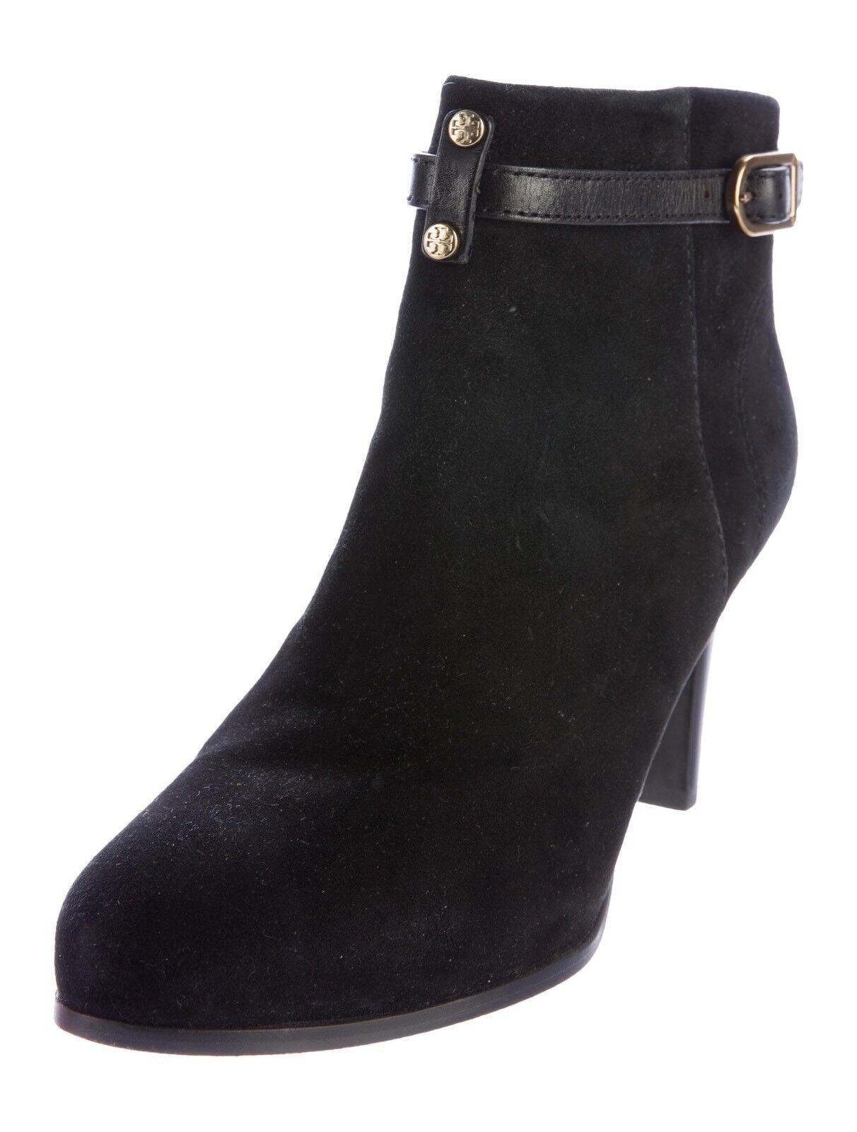 garanzia di qualità Tory Burch donna Suede Leather stivali Ankle nero Marrone Heels Heels Heels Patricia Dimensione 11  nuovo di marca