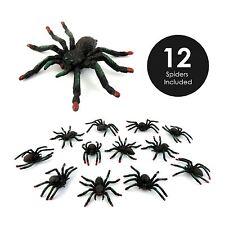 12 Kunststoff Spielzeug Gefallen Spinne Figuren Partei-taschen