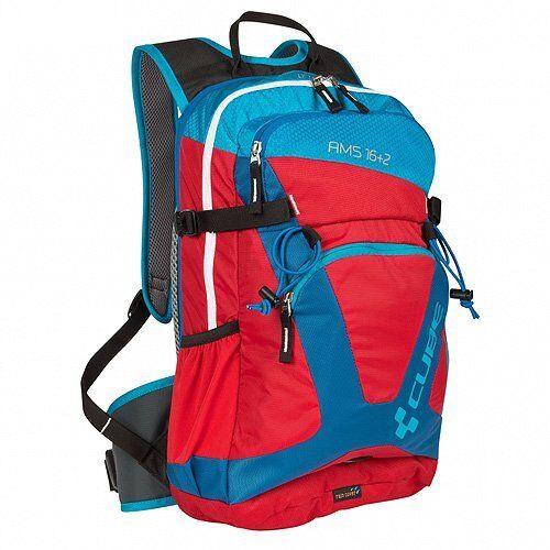CUBE Sports Backpack AMS 16+2, Blau x rot