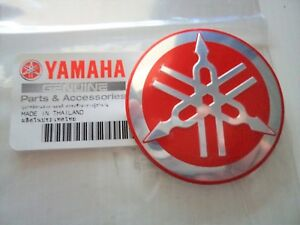 Yamaha Genuine Badge Tuning Fork Retro Tank Emblem Red Silver Uk Stock Ebay
