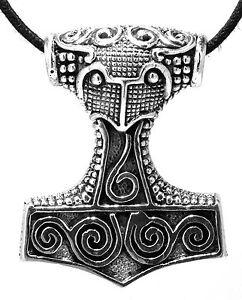 Thor Hammer Thor Hammer Thor Hammer Viking Silver 925 Band / Chain pendant Nr147