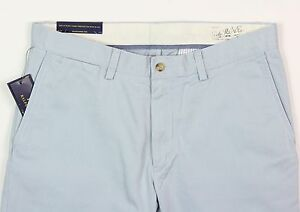 Men's POLO RALPH LAUREN Light Blue Cotton Pants 33x32 33 NEW NWT Classic Fit