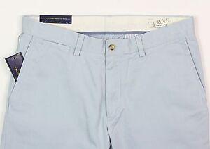 Men's POLO RALPH LAUREN Light Blue Cotton Pants 33x32 33 NEW NWT Classic Fit