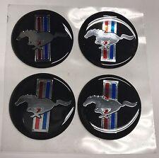 "(4) Mustang Hub Cap/Wheel Center Emblems Vinyl Adhesive Medallions - 1.75"""