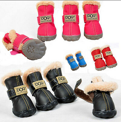 DOG BOOT Waterproof Anti-Slip Pet Shoes Snow Boot Classic Warm Dog Shoes Booties