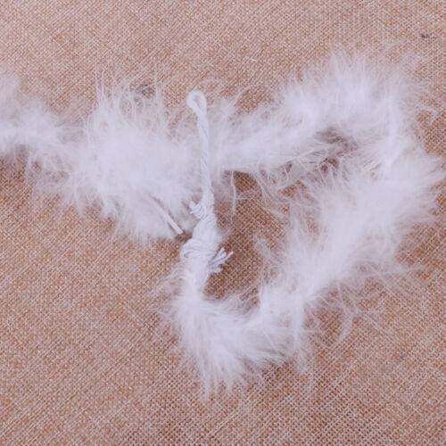 2M Feather Boa Strip Ribbon Fluffy Craft Costume Fancy Dress Wedding Party Decor
