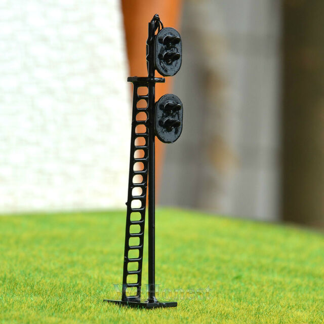 2 pcs HO Scale 1:87 LEDs Made 2 heads Railroad Signals 2 aspects over 2 aspects