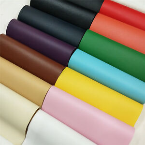 Solid-Lychee-Faux-Leather-Leatherette-Vinyl-Upholstery-Craft-Fabric-Sew-A4-Sheet
