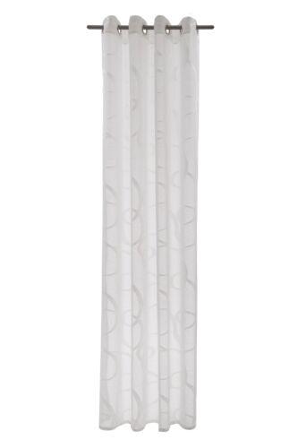 Ösengardine Ösenschal rideau semi-transparent Seth graphiquement Blanc 5043-05