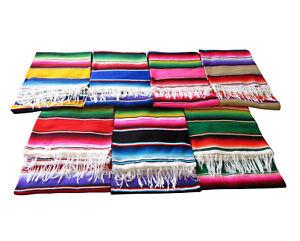 MEXIKANISCHE-SARAPE-DECKE-Azteken-Handarbeit-Picknick-Sofa-Bettdecke-Hotrod
