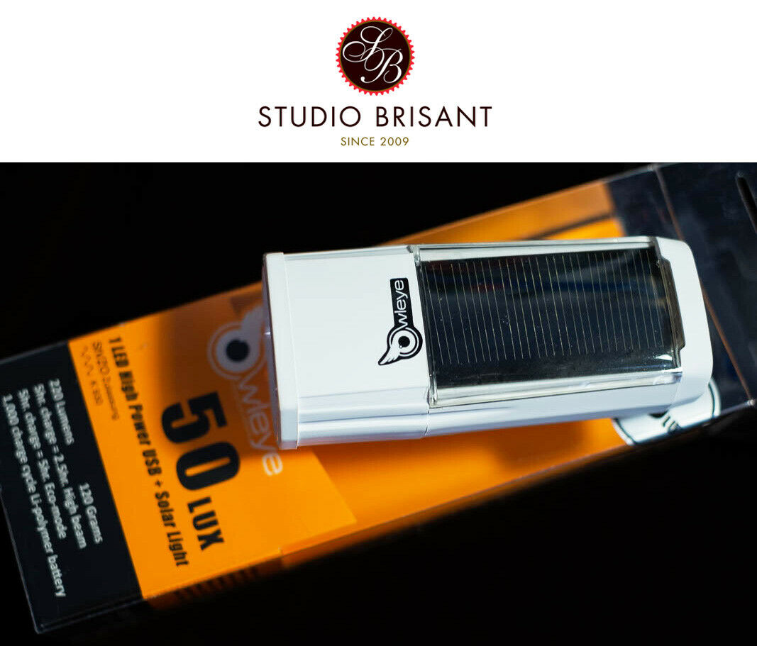 Owleye Hybrid lux 50 solar power light 220 lúmenes head light anstecklicht delante
