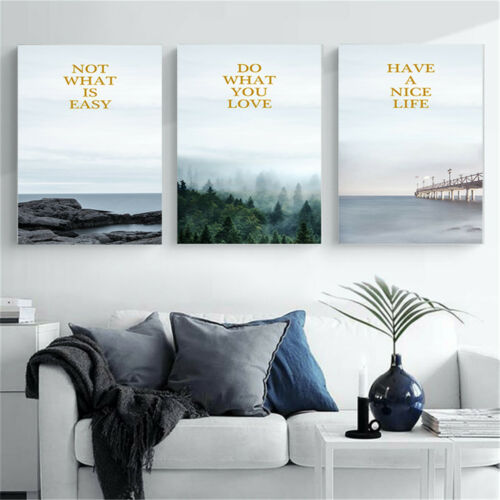 Nordic Forest Landscape Canvas Poster Wall Hangings Home Living Room Art Decor