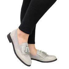 b00df128959 item 6 Ladies Women Slip On Brogue Tassel Fringe Loafers School Office  Pumps Shoes Size -Ladies Women Slip On Brogue Tassel Fringe Loafers School  Office ...