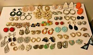 VTG-NOW-Non-Pierced-Clip-On-Earrings-RHINESTONE-Sarah-Cov-Trifari-Bergere-H-K