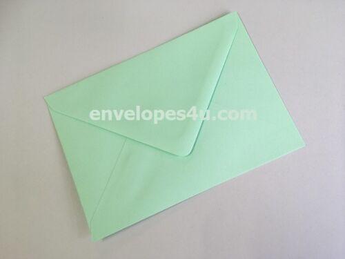 C7//A7 Leafbird Invitation Envelopes 82 x 113mm FREE P/&P Mint Green RSVP Card