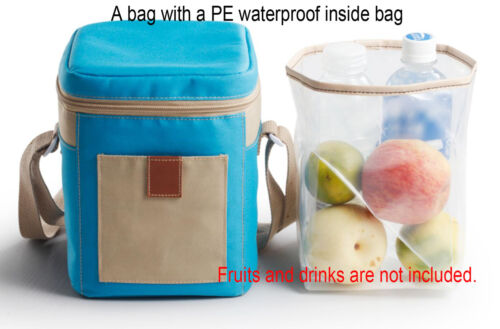 Insulated Thermal Cooler Storage Lunch Bento Bag With PE Waterproof Inside Bag