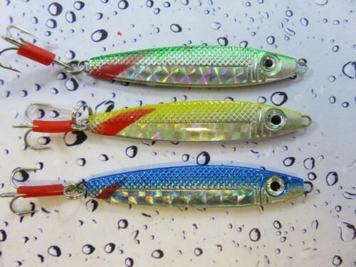 3 MIXED STINGER LURES 30g SEA SPINNER PIKE MACKEREL BASS POLLACK FISHING