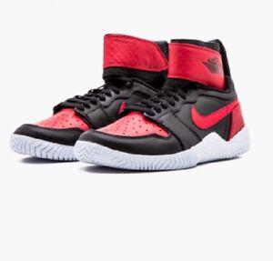 Nike Flare Lg QS AJ1 Jordan Serena Williams 6.5 Black Red 878458 023 Tennis Shoe