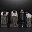 EDC Titanium TC4 Ti Whistle Twin Tubes High Frequency Survival Tool Outdoor