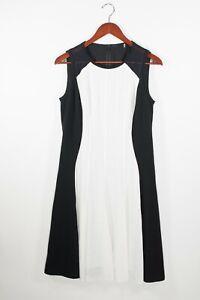 Elie Tahari Womens Size 6 Black White Color Block Mesh